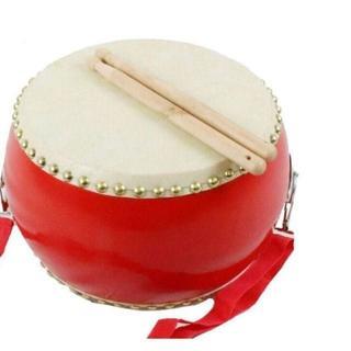 太鼓 おもちゃ 小太鼓 バチ2本 ショルダーベルト付(和太鼓)