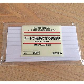 ムジルシリョウヒン(MUJI (無印良品))の無印良品 ノートが延長できる付箋紙(ノート/メモ帳/ふせん)