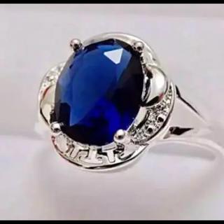 即購入OK♡ブルーストーン指輪サファイアのようなゴージャスリング(リング(指輪))