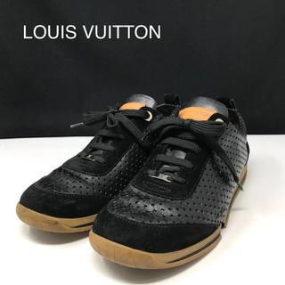ルイヴィトン(LOUIS VUITTON)の正規品 ルイヴィトン 訳あり レザー スニーカー(スニーカー)
