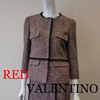 レッドヴァレンティノ(RED VALENTINO)のM様専用♡RED VALENTINO♡ジャケット 美品 ツィード ツイード(ノーカラージャケット)