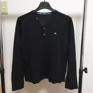 バーバリーブラックレーベル(BURBERRY BLACK LABEL)の美品バーバリーブラックレーベル ヘンリーネックニット サイズ(ニット/セーター)