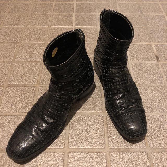 S'exprimer(セクスプリメ)の構造的 セクスプリメ ヒールブーツ 41 レザー ドレスシューズ メンズの靴/シューズ(ブーツ)の商品写真