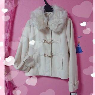 シマムラ(しまむら)の新品♡  襟ファー取り外し可能 留金具 ショートコート(毛皮/ファーコート)