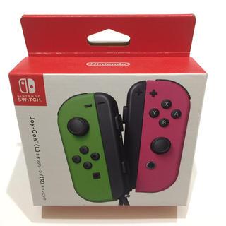 ニンテンドースイッチ(Nintendo Switch)のJoy-Conネオングリーン/ ネオンピンク (Nintendo Switch)(その他)
