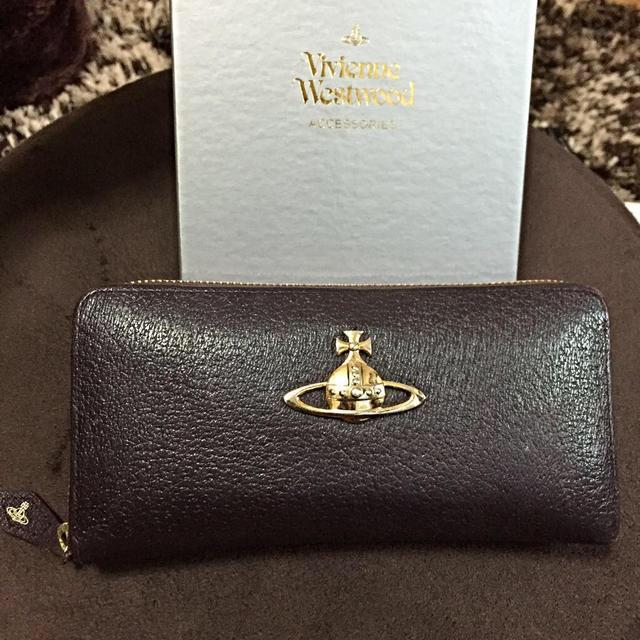 Vivienne Westwood(ヴィヴィアンウエストウッド)のVivienne*ダークブラウン長財布 レディースのファッション小物(財布)の商品写真