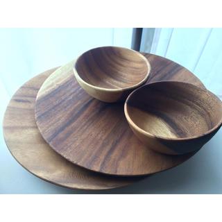 ムジルシリョウヒン(MUJI (無印良品))の無印 アカシアプレート/サラダ皿セット(食器)