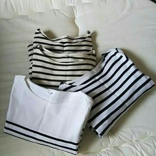 ムジルシリョウヒン(MUJI (無印良品))の4点セット🌑無印良品🌑ボーダー ロング Tシャツ カットソー (Tシャツ(長袖/七分))
