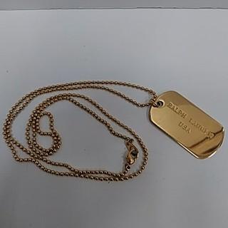 ラルフローレン(Ralph Lauren)のラルフローレン プレートネックレス ゴールド色(ネックレス)