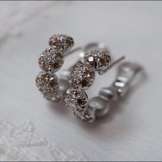 シャンテクレール(Chantecler)の18kt シャンテクレール 750 K18 ダイヤモンド ピアス ボンボン(ピアス)