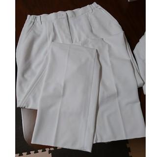 アイトス(AITOZ)の新品 ナースパンツ 白 ホワイト L(その他)