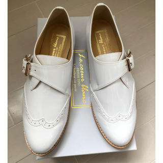 ルクールブラン(le.coeur blanc)のシングルモンクシューズ オフホワイト ドレスシューズ ローファー(ローファー/革靴)