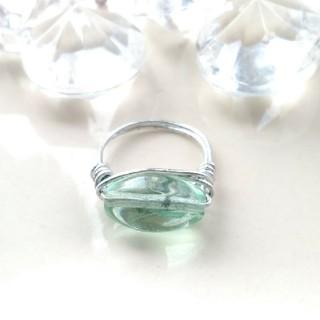 フローライト 蛍石 ワイヤーリング 指輪 パワーストーン 天然石 ハンドメイド(リング(指輪))