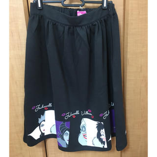 ディズニー(Disney)のディズニー ヴィランズ スカート【Lサイズ】(ひざ丈スカート)
