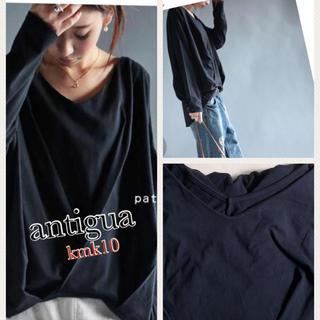 アンティカ(antiqua)のantigua裾タックドレープトップス(カットソー(長袖/七分))