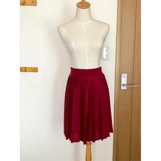 ジエンポリアム(THE EMPORIUM)のused プリーツスカート ボルドー mサイズ(ひざ丈スカート)