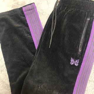 ニードルス(Needles)のneedles ニードルス ニードルズ トラックパンツ 黒 紫 ジャージ(その他)