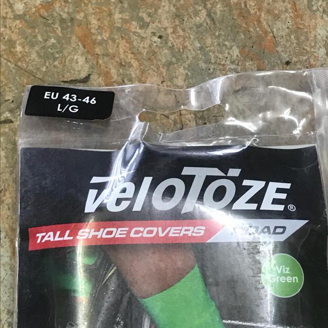 完全密着サイクル用エアロ&レインシューズカバー『VELOTOZE TALL』緑L スポーツ/アウトドアの自転車(ウエア)の商品写真