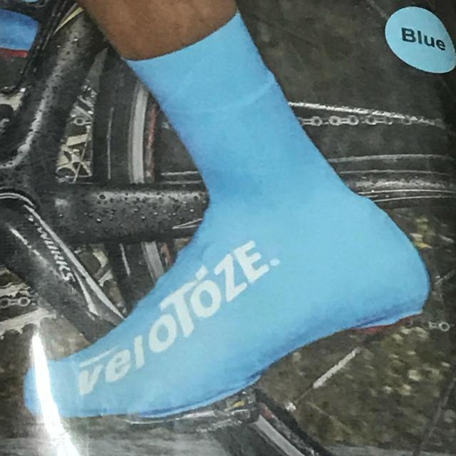完全密着サイクル用エアロ&レインシューズカバー『VELOTOZE TALL』青M スポーツ/アウトドアの自転車(ウエア)の商品写真