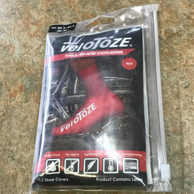 完全密着サイクル用エアロ&レインシューズカバー『VELOTOZE TALL』赤M スポーツ/アウトドアの自転車(ウエア)の商品写真