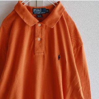 ラルフローレン(Ralph Lauren)のUS ポロ ラルフローレン orange 長袖 ポロシャツ XL(ポロシャツ)