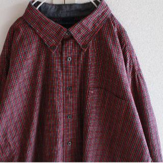 トミーヒルフィガー(TOMMY HILFIGER)のUS トミーヒルフィガー ビッグサイズ redgr チェック シャツ(シャツ)