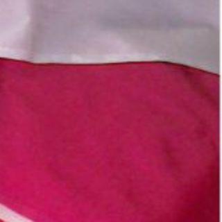 O 中古風呂敷 103×107 赤紫×白(その他)
