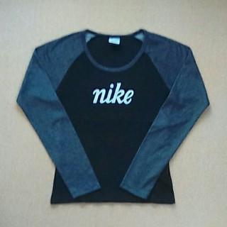ナイキ(NIKE)のTシャツ*ラグラン*長袖*NIKE*黒×グレー*M(Tシャツ(長袖/七分))