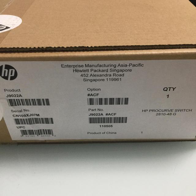 HP(ヒューレットパッカード)のHP J9022A/ACF ProCurve(新品・未開封品) スマホ/家電/カメラのPC/タブレット(PC周辺機器)の商品写真