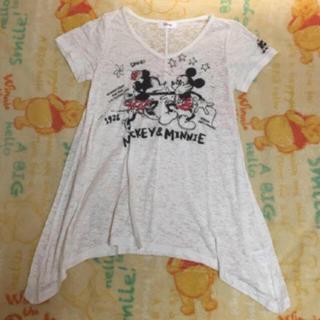ディズニー(Disney)の美品! Disney 半袖 シースルー デザイン トップス♡(シャツ/ブラウス(半袖/袖なし))