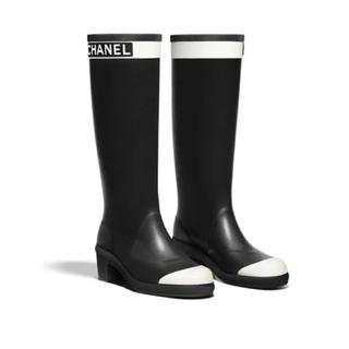 シャネル(CHANEL)のレア 新作 完売 CHANEL レインブーツ 36(レインブーツ/長靴)