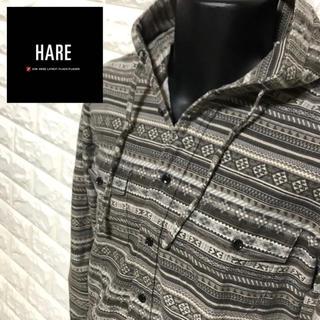 ハレ(HARE)のHARE ボヘミアン柄エキゾチックフードシャツ(パーカー)
