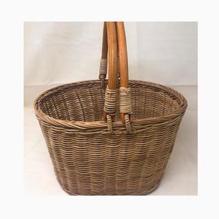 ラタンかご ランチバスケット オーバル ピクニック 花かご 収穫かご 収納