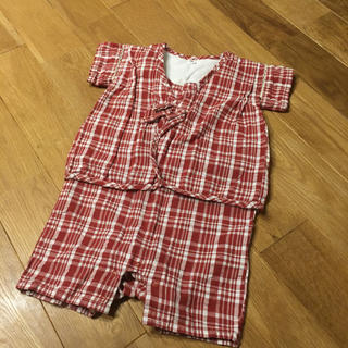ムジルシリョウヒン(MUJI (無印良品))のベビー☆甚平 パジャマ  80cm(甚平/浴衣)