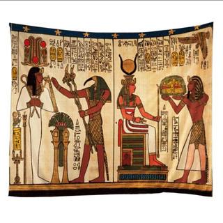 MALAIKA - 【即納】エジプト絵画 デザイン エスニック タペストリー マルチカバー マライカ