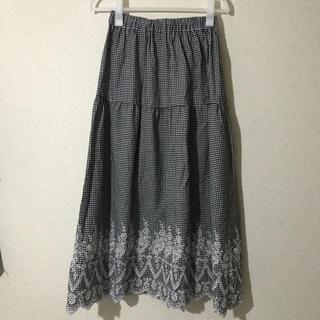 チェックロングスカート☆(ロングスカート)