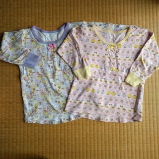 シマムラ(しまむら)の長袖肌着  女の子  110サイズ  2枚セット(下着)