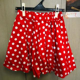 ディズニー(Disney)の1回着用のみ ミニー スカート ✨(ひざ丈スカート)
