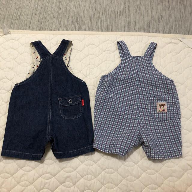fb78c5525a14c mikihouse(ミキハウス)のミキハウス オーバーオール 80 セット キッズ ベビー マタニティのベビー服