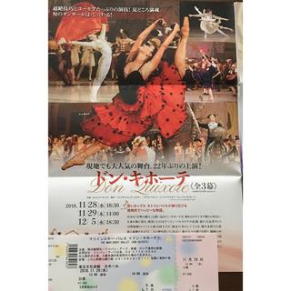 マリインスキー・バレエ〈ドン・キホーテ〉D席1枚 11/29昼公演(バレエ)