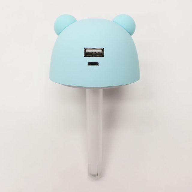 USBポート付きクマ型ミニ加湿器URUKUMASAN(うるくまさん)2個セット スマホ/家電/カメラの生活家電(加湿器/除湿機)の商品写真
