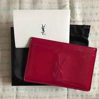 イヴサンローランボーテ(Yves Saint Laurent Beaute)のイヴサンローラン パスケース(名刺入れ/定期入れ)