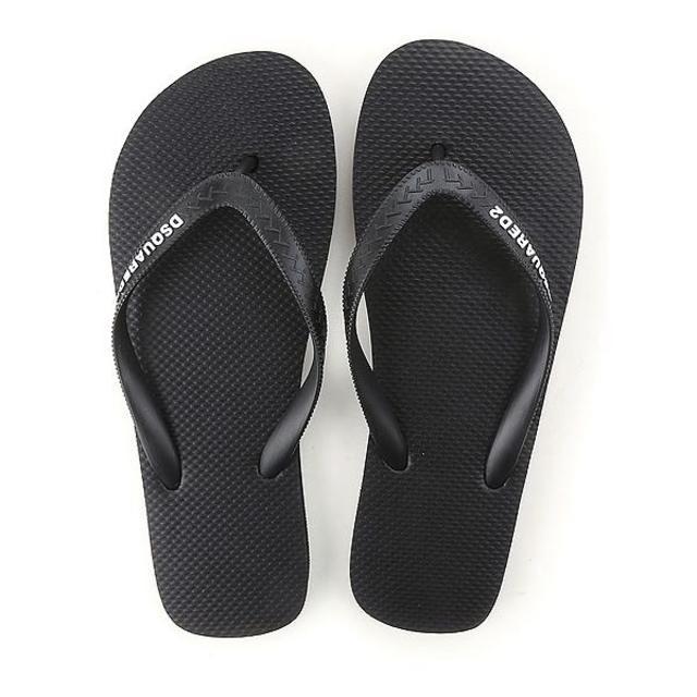 DSQUARED2(ディースクエアード)の【1】DSQUARED2 ブラック ビーチサンダル size 44 メンズの靴/シューズ(サンダル)の商品写真