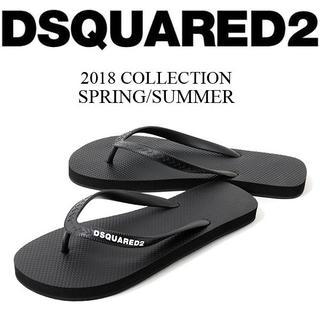 ディースクエアード(DSQUARED2)の【1】DSQUARED2 ブラック ビーチサンダル size 44(サンダル)