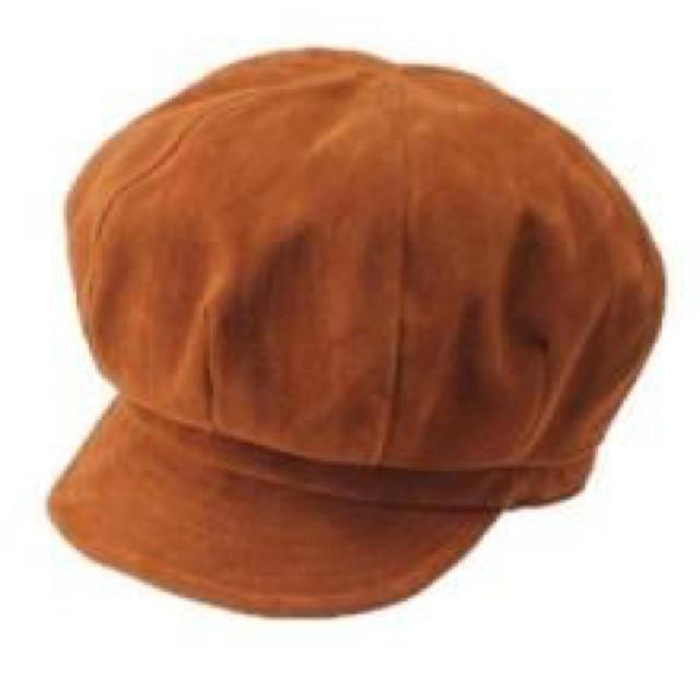Ungrid(アングリッド)のungrid スエードキャスケット レディースの帽子(キャスケット)の商品写真