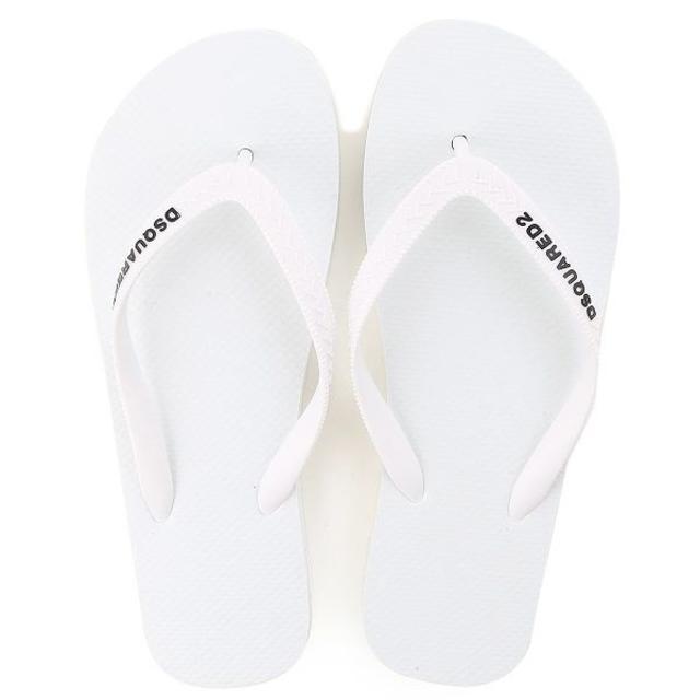 DSQUARED2(ディースクエアード)の【2】DSQUARED2 ホワイト ビーチサンダル size 41 メンズの靴/シューズ(サンダル)の商品写真