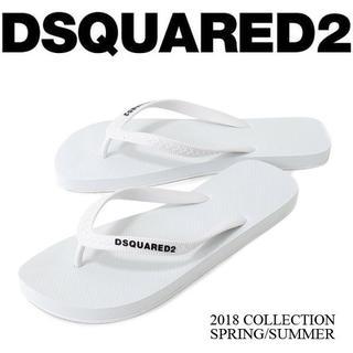 ディースクエアード(DSQUARED2)の【2】DSQUARED2 ホワイト ビーチサンダル size 41(サンダル)