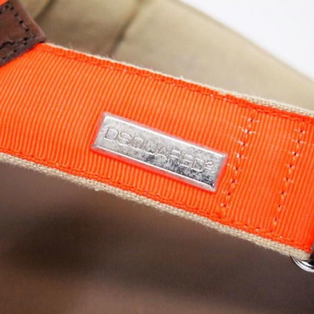 DSQUARED2(ディースクエアード)のDSQUARED2 中古本物 オレンジ レザー サンダル size 41 メンズの靴/シューズ(サンダル)の商品写真