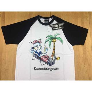 カズロック(KAZZROCK)のkazzrockoriginal® ツートンTシャツ【W/B・Mサイズ】(Tシャツ/カットソー(半袖/袖なし))