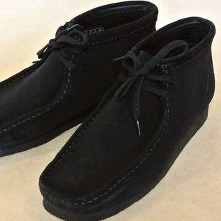 クラークス(Clarks)のClarks クラークス ワラビーブーツ 黒スエード N2 US8.5 正規(ブーツ)